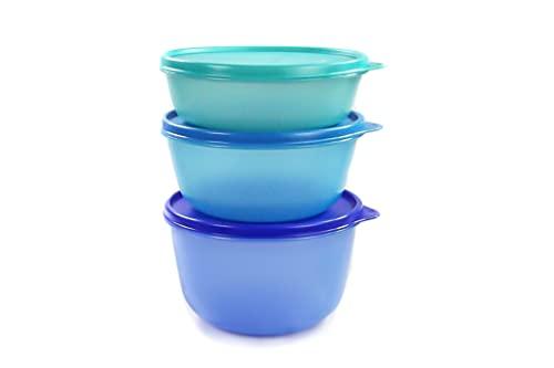 TUPPERWARE Kühlschrank Clarissa 2L dunkelblau, 1,5L blau, 1L türkis Panorama