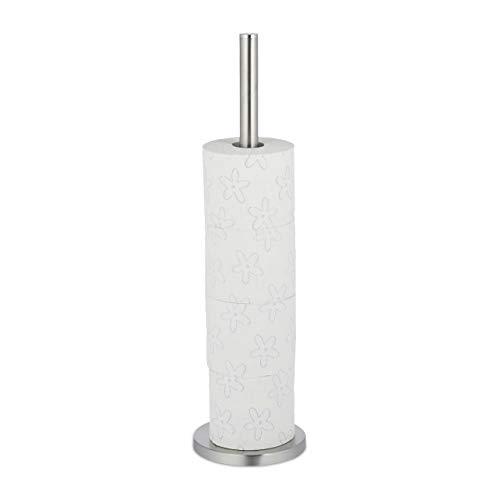 Relaxdays Toilettenpapier Aufbewahrung, 5 Rollen Klopapier, stehend, Metall,...
