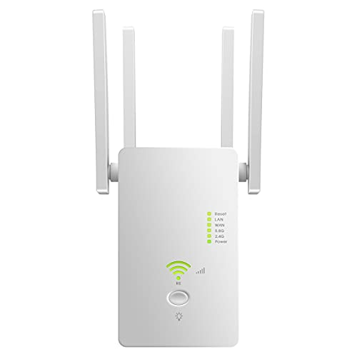 WLAN Repeater 1200 Mbit/s WLAN Amplifier 2.4 GHz and 5 GHz Dual Band 4 in 1 Mode...