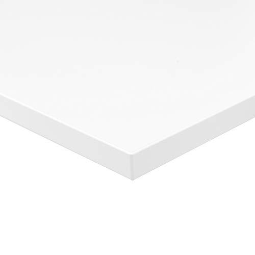 boho office® Tischplatte, Schreibtischplatte 180 x 80 x 2.5 cm in Weiß...