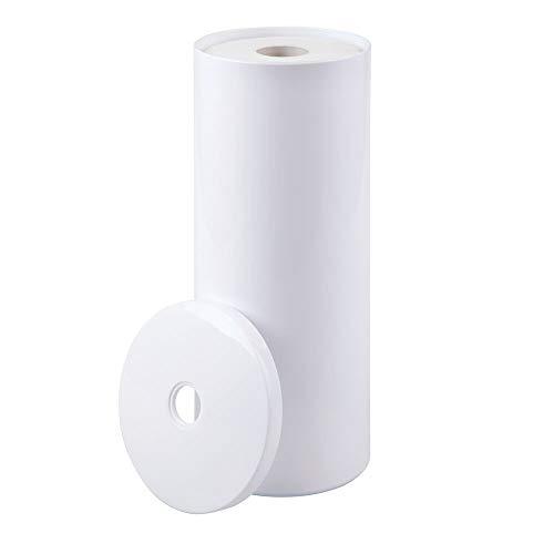 mDesign Toilettenpapierhalter stehend – eleganter Klopapierhalter mit Deckel...