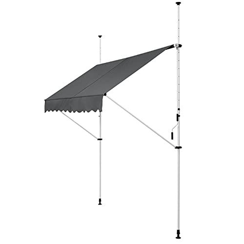 ArtLife Klemmmarkise Kuwait 300 x 120 cm – höhenverstellbar - Markise mit...