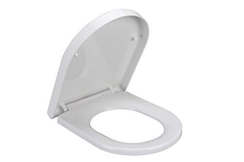 Grünblatt High-End Duroplast WC Sitz 515062 D-Form Absenkautomatik, abnehmbar...