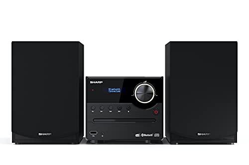 SHARP XL-B517D (BK) Stereo-Soundsystem (45 Watt, digitales Radio mit DAB+ und...