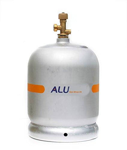 Alu Propangasflasche / Gasflasche 2 kg mit abnehmbaren Gasventil...