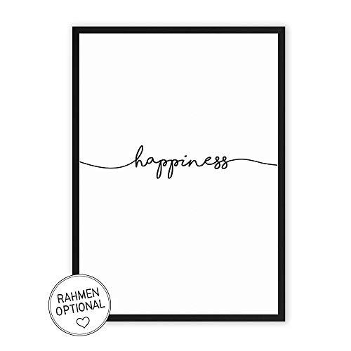 Wunderpixel® Kunstdruck happiness - auf wunderbarem Hahnemühle Papier DIN A4 |...