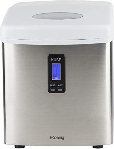 H.Koenig Eiswürfelmaschine KB15 - ca. 15 kg Eiswürfel pro Tag -...