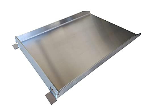 Grillrost.com Das Original Grillplatte/Plancha | Edelstahl | Massiv 45 x 30cm -...