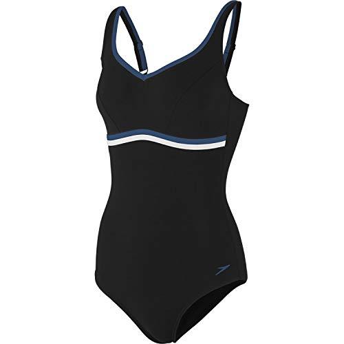 Speedo Damen Badeanzug Contourluxe 1 Piece 8-10417 Black/Arabian Night/White 50