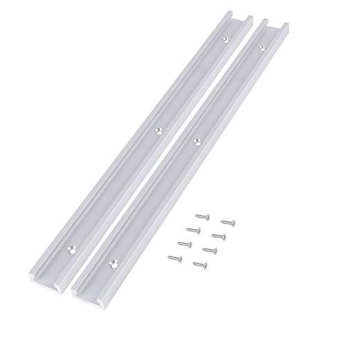 2pcs T Track 400mm Aluminiumlegierung T-Slot Track mit 8pcs selbstklebende...