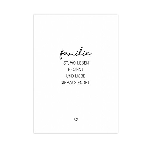 Wunderpixel® Kunstdruck Familie - auf wunderbarem Hahnemühle Papier DIN A4...