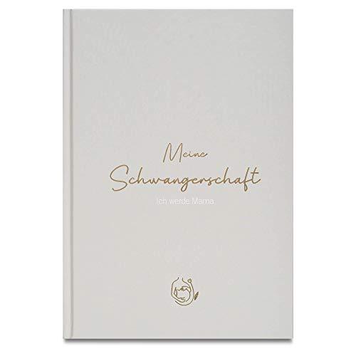 LEAF & GOLD® Schwangerschaftstagebuch I Tagebuch für die Schwangerschaft zum...