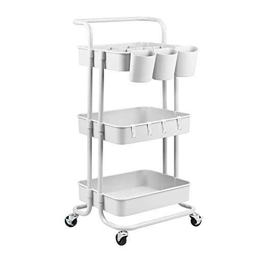 alvorog Servierwagen Küchenwagen Rollwagen Allzweckwagen Roll Regal für Küche...
