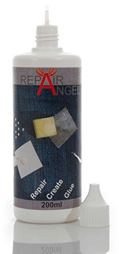 Repair Angel Textilkleber waschmaschinenfest transparent für Stoffe Leder Jeans...