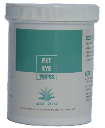 Aloe Vera, Feuchte Augen Reinigungspads für Katzen und Hunde, 150 Stück