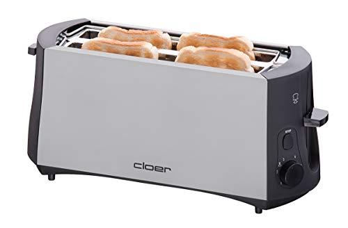 Cloer 3710 Langschlitztoaster für 4 Toastscheiben / 1380 W / integrierter...