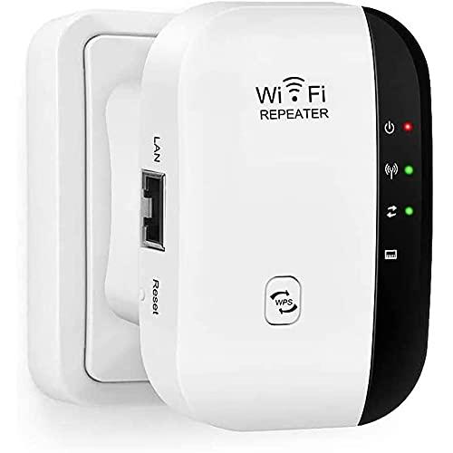 WLAN Repeater, Wireless Netz Signal Verstärker 300Mbit/s, mit LAN Port/WPS...