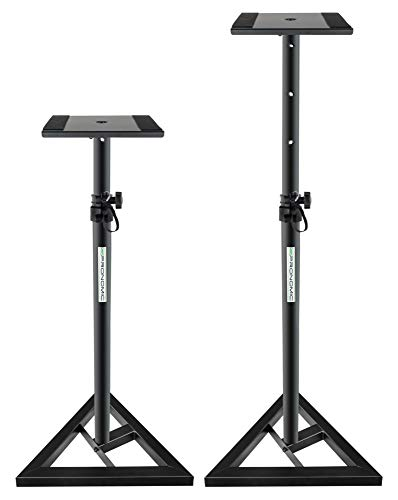 2x Pronomic SLS-10 Stativ für Studio Monitor Ständer (verstellbar 80 cm bis...