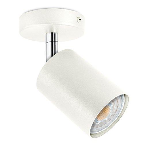 LED Decken & Wand Spotleuchte weiß 1-flammig schwenkbar & drehbar - Spotserie...