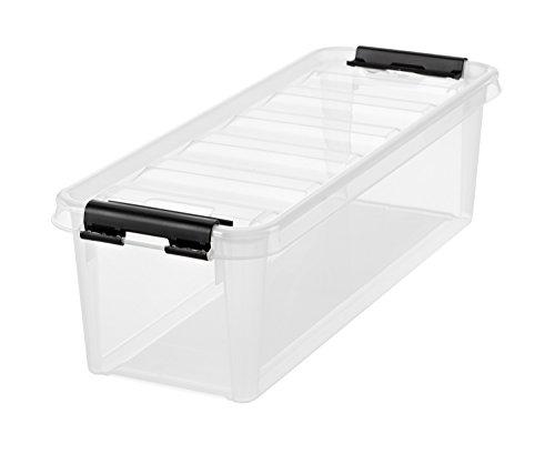 Orthex 3455070 Smart Store Classic 4 Clipbox, PP, transparent, 38x14x11 cm