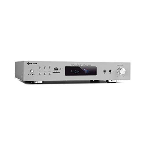auna AMP-9200 BT Karaoke Stereo-Amplifier Verstärker, Bluetooth ,UKW-Tuner &...