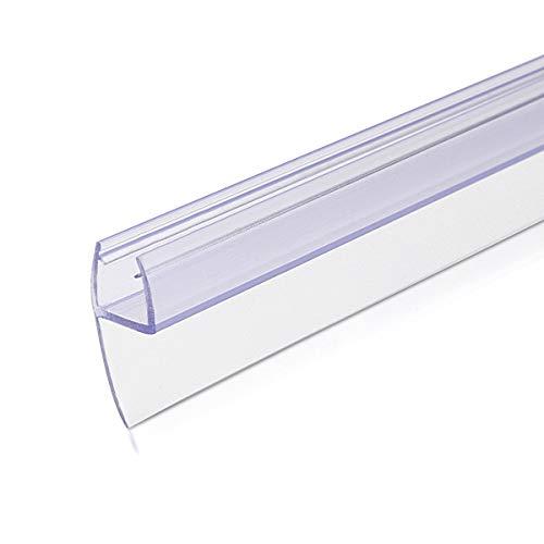 Navaris Schwallschutz Duschdichtung Duschkabine 180° - für 8mm dicke Glas...