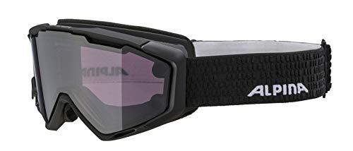 ALPINA Unisex– Erwachsene PANOMA S MAG. Q+S Skibrille, Black matt, one Size