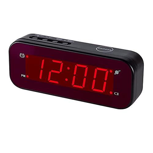Timegyro Batteriebetriebene Tischuhr, LED Wecker einfache Einstellung große...