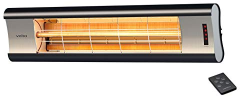 veito Aero S Elektro-Infrarot-Heizstrahler | Karbon (Carbon) | Terrassenstrahler...