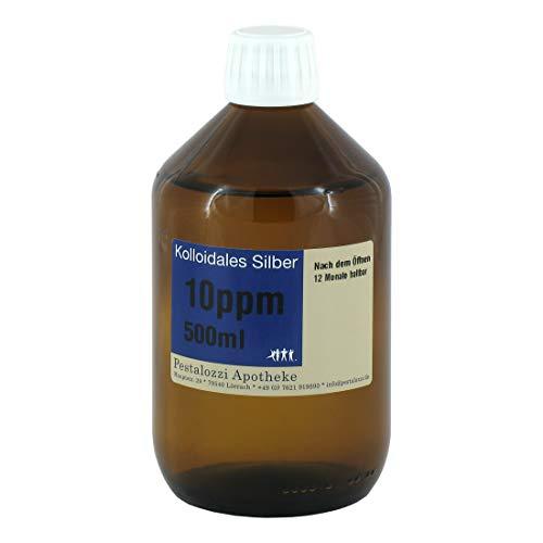 Kolloidales Silber 10ppm (500 ml) aus Apotheken-Herstellung - 100% natürliches,...