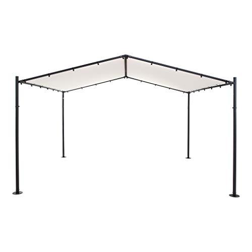SORARA Pavillon | Sand/Beige | 4 x 3.5m | für Garten, Patio, Outdoor