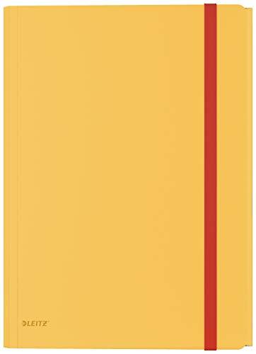 Leitz A4 Eckspannermappe mit Innentasche, Für 150 Blatt, Warmes Gelb,...