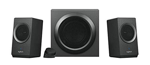 Logitech Z337 Kabelloses 2.1 Lautsprecher-System mit Subwoofer, Bluetooth, 80...