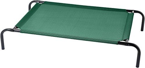 AmazonBasics - Erhöhtes Haustierbett, kühlend M, Grün