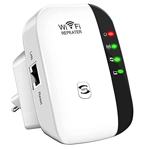 WLAN Verstärker WLAN Repeater,WLAN Booster WiFi Verstaerker 300Mbit/s,mit LAN...