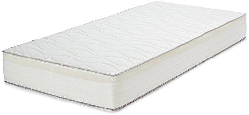 AmazonBasics Extra Komfort Frühlingsmatratze mit sieben Zonen weich, 90 x 200...