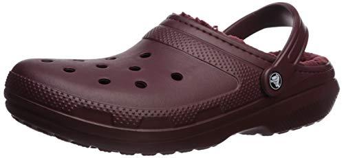 crocs Unisex-Erwachsene Classic Lined Clogs, Rot (Burgundy/Burgundy 60U), 38/39...