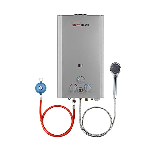 Propangas Durchlauferhitzer, Thermomate BE318S 12L Tankless Warmwasserboiler,...