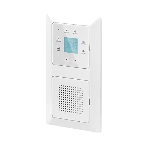 UNITEC Unterputz Radio mit Touchfunktion und Bluetooth, weiß, senkrecht und...