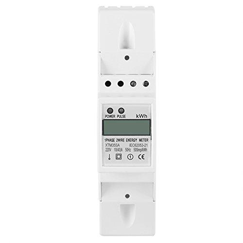 Einphasig DIN Schiene Stromzähler 10-40A Elektronische KWh Meter Digital LCD...