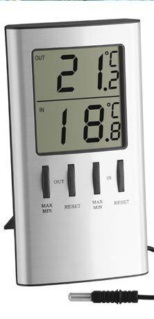 TFA Dostmann Digitales Innen-Außen-Thermometer, Außentemperatur,...