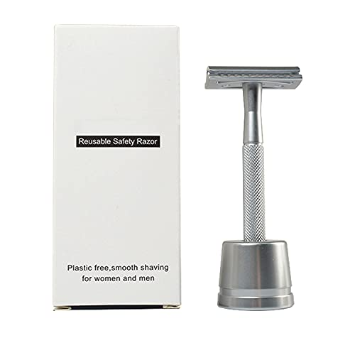 Vanpow Rasierhobel inkl Halterung Metall Zero Waste Rasierer Plastikfrei...