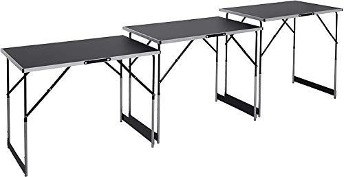 Meister Multifunktionstisch 3-teilig - 30 kg Tragkraft je Tisch (100 x 60 cm) -...