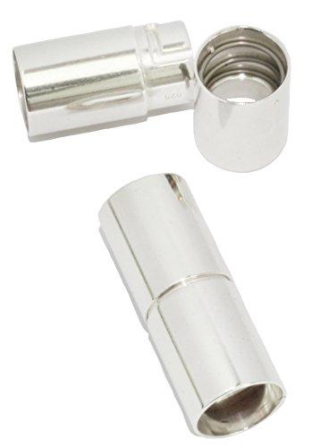 Bajonettverschluss fugenloses Rohr in 925/35AG Silber (Außen Ø 9mm - Innen Ø...