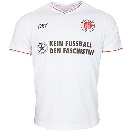 FC St. Pauli Trikot Teamshirt T-Shirt Auswärts 2021-22 Kein Fußball den +...
