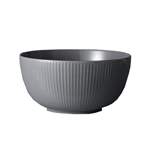 Gxy Geprägte hellgraue Keramikschale Suppenschüssel Ramenschüssel Haushalt...