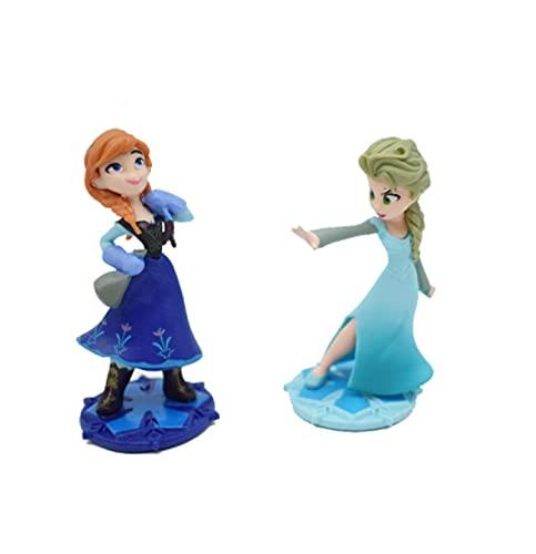 Klycbds ELSA Anna Rapunzel Kuchen Dekoration DIY Anime Modell Spielzeug, Kinder...
