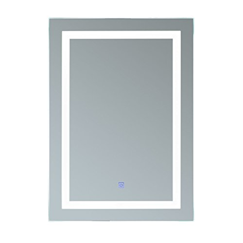 HOMCOM Lichtspiegel LED Spiegel Badspiegel Badezimmerspiegel Wandspiegel...