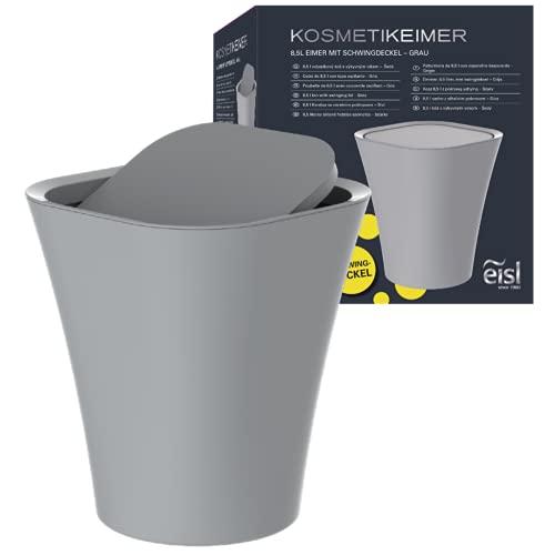 EISL Kosmetikeimer Bad (8,5 Liter) mit Schwingdeckel, Mülleimer für das...