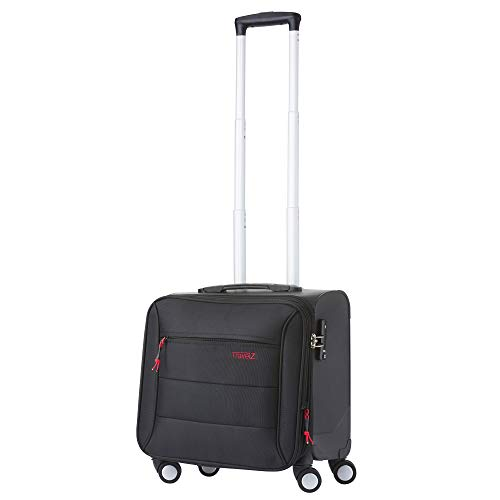 TravelZ Laptop Pilotenkoffer 14' Business case - TSA Laptop Rollkoffer mit...